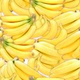 Teste padrão sem emenda de bananas amarelas Fotos de Stock