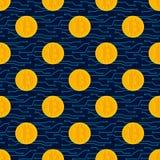 Teste padrão sem emenda de Bitcoin Cryptocurrency Imagem de Stock Royalty Free