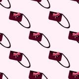 Teste padrão sem emenda de bolsas das mulheres s ilustração do vetor