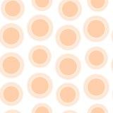 Teste padrão sem emenda de círculos do pêssego Imagens de Stock