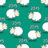 Teste padrão sem emenda de carneiros engraçados Imagem de Stock Royalty Free