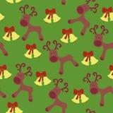 Teste padrão sem emenda de Deers Imagens de Stock Royalty Free