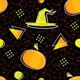 Teste padrão sem emenda de Dia das Bruxas com abóboras Fotografia de Stock Royalty Free