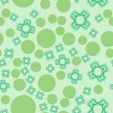 Teste padrão sem emenda de Dots And Stylized Flowers ilustração stock