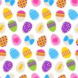 Teste padrão sem emenda de Easter com ovos Fotografia de Stock