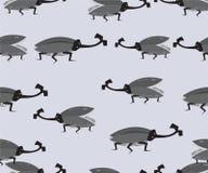 Teste padrão sem emenda de erros do besouro do chifre Imagem de Stock
