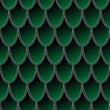 Teste padrão sem emenda de escalas de peixes verdes coloridas, fundo do vetor da pele do dragão foto de stock