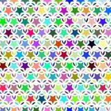 Teste padrão sem emenda de estrelas coloridas Ilustração do vetor Imagens de Stock