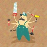 Teste padrão sem emenda de ferramentas da mão ilustração royalty free