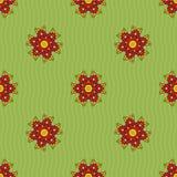 Teste padrão sem emenda de flores abstratas Fotografia de Stock Royalty Free