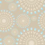 Teste padrão sem emenda de flores arredondadas Imagens de Stock Royalty Free