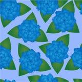 Teste padrão sem emenda de flores azuis ilustração royalty free