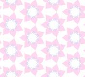 Teste padrão sem emenda de flores cor-de-rosa ilustração stock