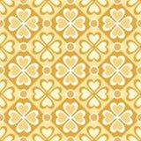 Teste padrão sem emenda de flores estilizados e de formas geométricas Imagens de Stock Royalty Free