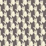 Teste padrão sem emenda de gatos egípcios Imagens de Stock