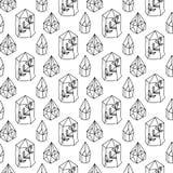 Teste padrão sem emenda de Gem Magic dos cristais ilustração do vetor