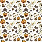Teste padrão sem emenda de Halloween ilustração royalty free
