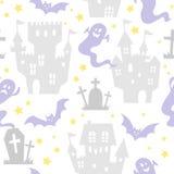 Teste padrão sem emenda de Halloween Fotografia de Stock Royalty Free