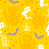 Teste padrão sem emenda de Halloween Imagens de Stock Royalty Free