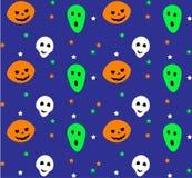 Teste padrão sem emenda de Halloween Ilustração do vetor Imagens de Stock