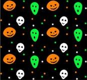 Teste padrão sem emenda de Halloween Ilustração do vetor Imagem de Stock