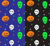Teste padrão sem emenda de Halloween Ilustração do vetor Fotos de Stock