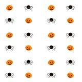 Teste padrão sem emenda de Halloween Ilustração do vetor Fotografia de Stock Royalty Free