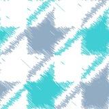 Teste padrão sem emenda de Houndstooth no estilo do garrancho ilustração royalty free