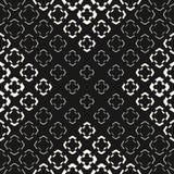 Teste padrão sem emenda de intervalo mínimo geométrico com morphing formas florais ilustração stock