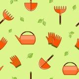Teste padrão sem emenda de jardinagem Fotos de Stock