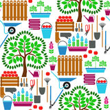 Teste padrão sem emenda de jardinagem Foto de Stock Royalty Free
