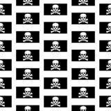 Teste padrão sem emenda de Jolly Roger Fotografia de Stock