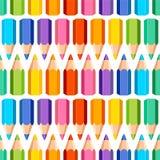 Teste padrão sem emenda de lápis coloridos ilustração do vetor