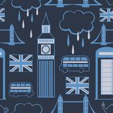 Teste padrão sem emenda de Londres Fotos de Stock