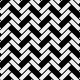 Teste padrão sem emenda de madeira simples preto e branco do parquet de desenhos em espinha do assoalho, fundo eps 10 do vetor ilustração royalty free
