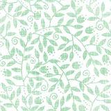 Teste padrão sem emenda de matéria têxtil das folhas e dos redemoinhos Fotos de Stock