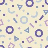 Teste padrão sem emenda de Memphis Teste padrão sem emenda geométrico no estilo 80s Motivo retro Fotografia de Stock Royalty Free