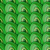 Teste padrão sem emenda de ovos verdes com ervilhas Imagem de Stock