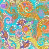 Teste padrão sem emenda de Paisley, papel de parede floral Fotografia de Stock Royalty Free