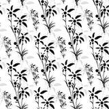 Teste padrão sem emenda de palmeiras pretas ilustração stock