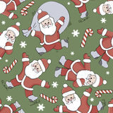 Teste padrão sem emenda de Papai Noel ilustração stock