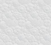 Teste padrão sem emenda de papel de 3D OM Fotos de Stock