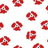 Teste padrão sem emenda de papoilas vermelhas Teste padrão floral do poppie Fotos de Stock