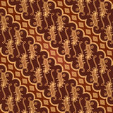 Teste padrão sem emenda de Parang Barong do Batik Foto de Stock