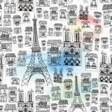 Teste padrão sem emenda de Paris Foto de Stock Royalty Free