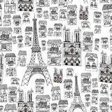 Teste padrão sem emenda de Paris Imagem de Stock Royalty Free