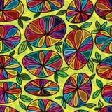 Teste padrão sem emenda de pedra da flor Fotografia de Stock Royalty Free