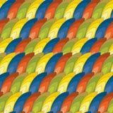 Teste padrão sem emenda de penas coloridas Foto de Stock Royalty Free