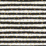 Teste padrão sem emenda de pontos aleatórios do ouro Fotografia de Stock