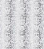 Teste padrão sem emenda de prata do vintage Imagens de Stock Royalty Free